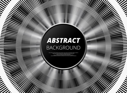 Modern of abstract black and white background for presentation. Vector eps10