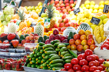 Tomatoes, cucumbers and other vegetables are on the market.