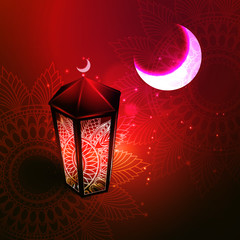 Vector illustration of the concept of Ramazan Islam, a holiday.