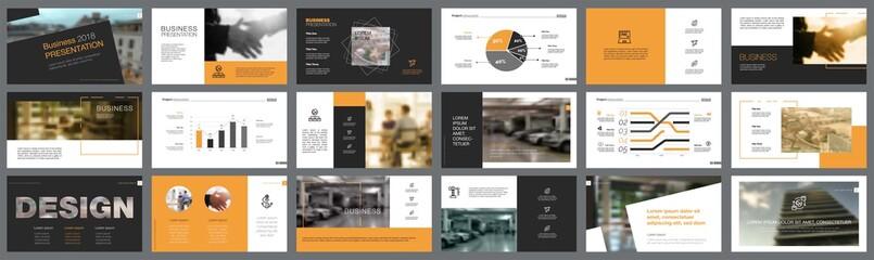 Fifteen Business Slide Templates Set