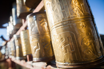 Buddhist prayer drums