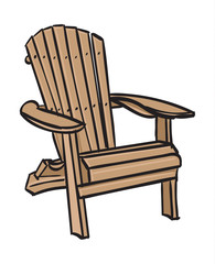 Wooden Muskoka Chair