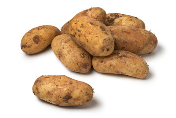 Fresh picked raw Diamant potatoes