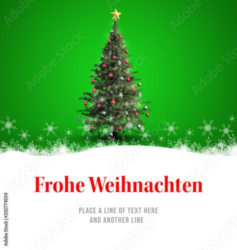 Christmas greeting in german against christmas tree stock photo and christmas greeting in german against christmas tree m4hsunfo