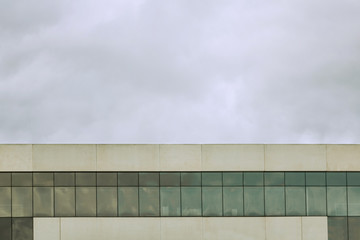 Abstract architecture. Close up of an office building facade.