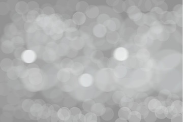 abstract silver white bokeh lights background