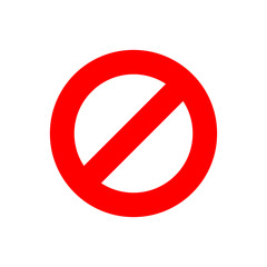Stop sign vector icon in flat style. Danger symbol illustration on white isolated background. Stop alert business concept.