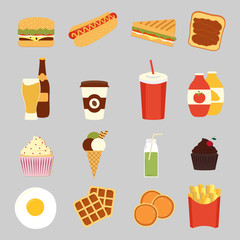 Fast food set cute