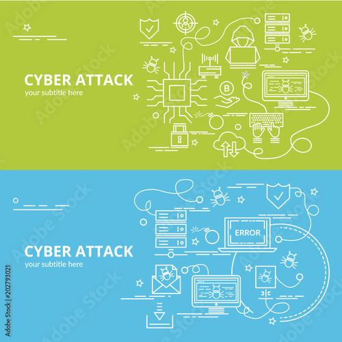 flat colorful design concept for ddos attack infographic idea of