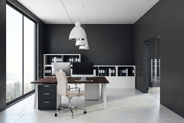 Concrete office interior