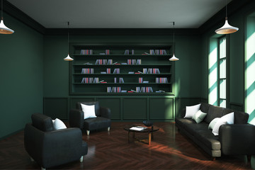Wall Mural - Clean library interior