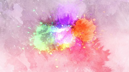 Colorful ink drop in water.