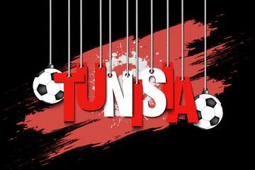Banner the inscription Tunisia