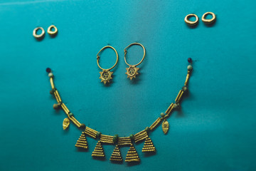 Vintage jewelry, necklace and earrings