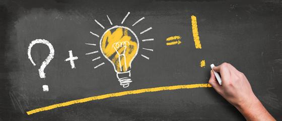 Hand skizziert simplizierte Gleichung zum Erfolg