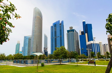 Abu Dhabi cityscape view from the promeade