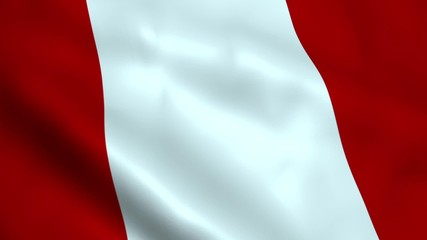 Realistic Peru flag