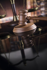 Gavel,Law theme, mallet of judge concept