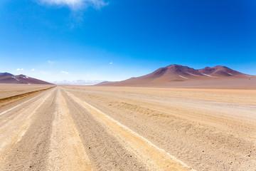 Bolivian dirt road view,Bolivia