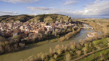 Peralta village in Navarre province, Spain