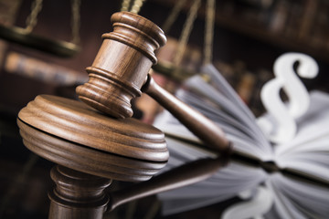 Paragraph, Law and justice concept, legal code and scales