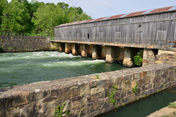 The Augusta canal at Augusta in Georgia .