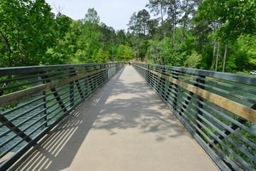 A bridge crossing the  Augusta canal at Augusta in Georgia. .