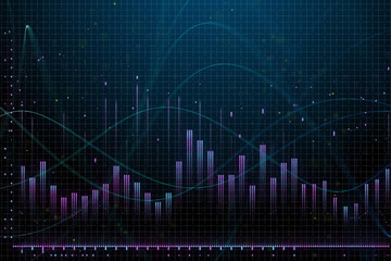 Market growth, finance and analysis concept