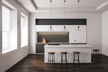 Wall Mural - Modern light kitchen interior