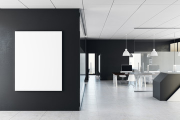 Modern office with empty wall