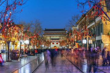 Fotorollo Beijing Qianmen street, Beijing, China