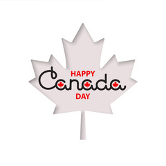 Happy Canada Day lettering.  Vector.