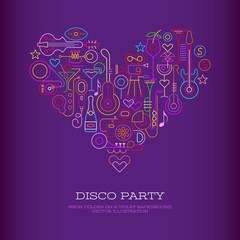 Disco Party Heart banner