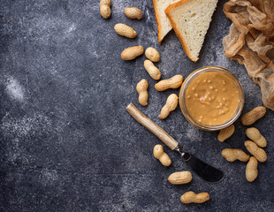 Homemade peanut butter and nuts