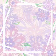 Beautiful gentle floral background for mother's day, women's day, wedding. Vector for greeting card, invitation, poster, business card, place for your text.
