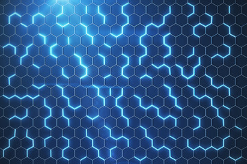 Blue hexagonal background