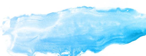 Blue watercolor paint background.