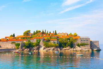 Sveti Stefan island on Budva Riviera, Montenegro