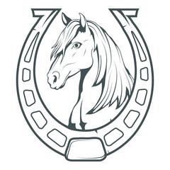 Horse. Hand drawn horse. Sketch of horse head. Vector artwork.