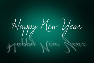 Happy new Year against green background with vignette