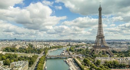 Beautiful Panorama of Paris Skyline