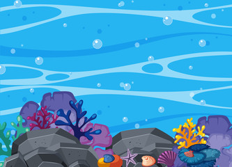 Beatiful Coral and Underwater Scene