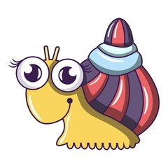 Snail icon. Cartoon illustration of snail vector icon for web