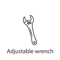 Adjustable wrench icon icon. Simple element illustration. Adjustable wrench icon symbol design from Construction collection set. Can be used in web and mobile