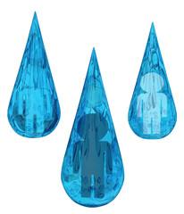 Water Drops People Symbols