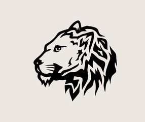 Face Lion Logo, art vector design
