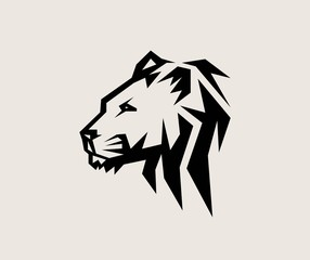 Head Lion Logo, art vector design