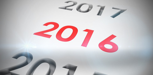 2016 graphic against white background with vignette