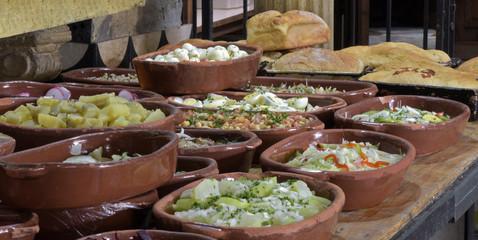 Self service restaurant buffet