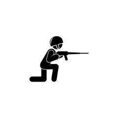 soldier with a gun illustration. Element of army icon for mobile concept and web apps. Detailed soldier with a gun illustration can be used for web and mobile. Premium icon